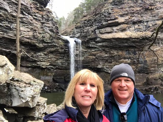 Morrilton, AR: Water fall at the end of Cedar Falls Trail