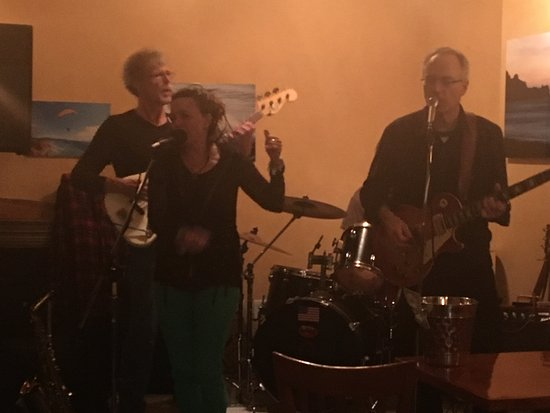 """""""Blue on Green"""" at A Grape In The Fog - a PERFECT band for St. Paddy's day!!"""