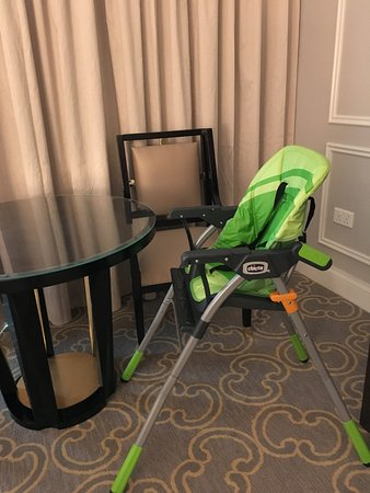 The Venetian Macao Resort Hotel: High chair provided by the hotel.