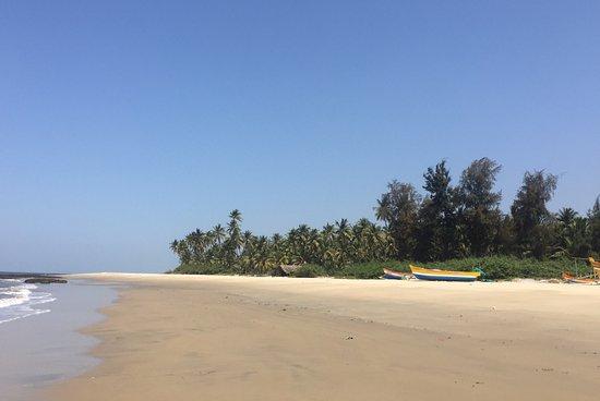 Vengurla, India: Lieu calme Et paradisiaque dans les cocotiers. Chambre spacieuse et assez agréable meme s'il man