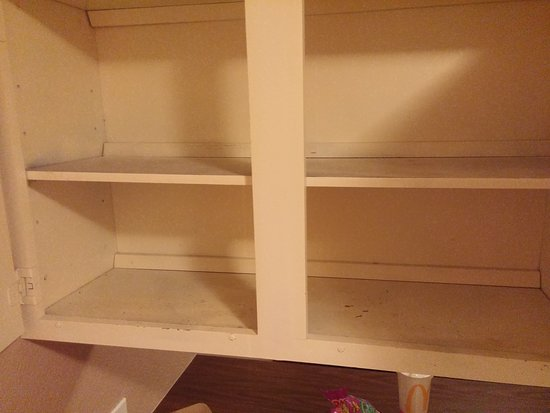 Veradale, WA: Under kitchen was badly water damaged. Cupboards painted poorly, old and awful. Knob missing on