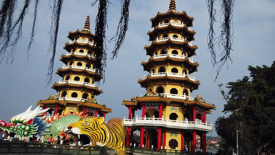 Photo of Monument / Landmark Dragon Tiger Tower at 左營區蓮潭路, Kaohsiung, Taiwan