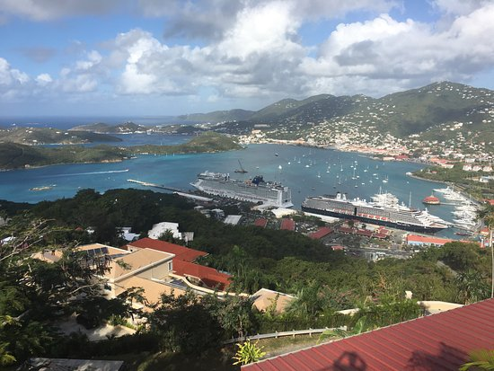 South Coast, St. Thomas: Cruise terminal and bay