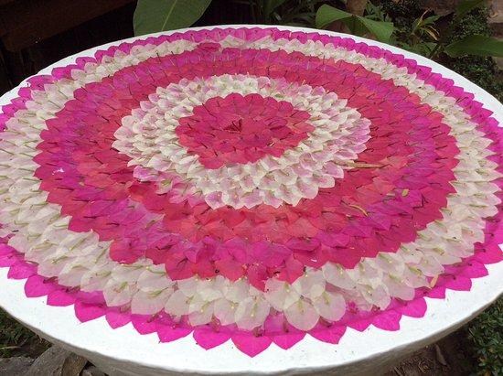 Great use of fallen petals