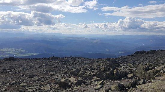Tynset, Norway: Uitzicht vanaf Tronfjell