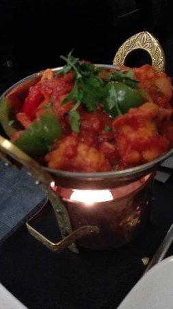 Rijmenam, Belgio: chilip paneer, my faroriet omdat het kaas is en geen vlees
