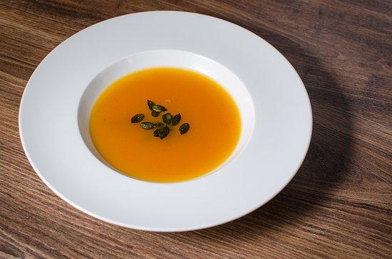 Вышеград, Венгрия: Sütőtökleves / Pumpkin cream soup