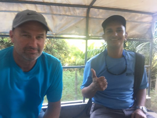 Drake Bay, Costa Rica: Michael and Rick in our taxi