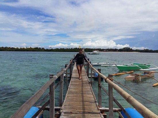 Lapu Lapu, Philippines: The Boardwalk in San Vicente Marine Sanctuary, Olango Island