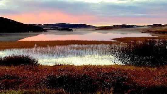 Fionnphort, UK: View of Loch Pottie from the garden