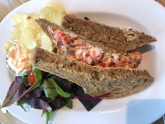 Lowick, UK: Crayfish and chilli mayo sandwich