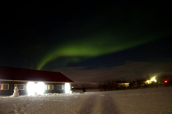 Borgarnes, İzlanda: The northern light at Hotel Rjukandi
