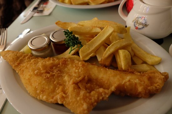 Poppies Fish & Chips: Fish and chips