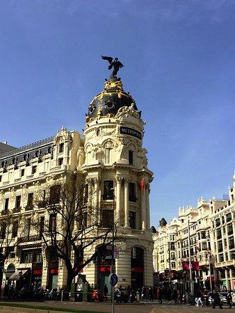 Photo of Monument / Landmark Metropolis at Calle Caballero De Gracia 40, Madrid 28013, Spain
