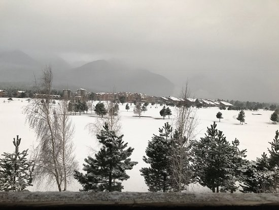 Razlog, Bulgaria: view of golf course in the snow