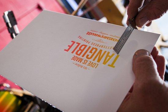 Jim Thorpe, PA: Somersault Letterpress ~ Letterpress Printing