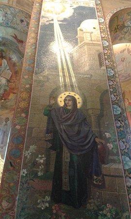 Храм Спаса на Крови: Фрагмент мозаики в храме Спас на крови