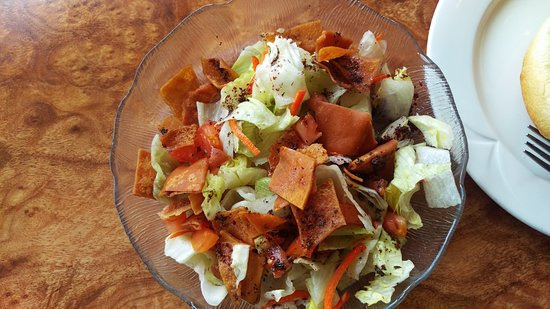 New Castle, PA: The made a Fattoush salad out of the standard for me!