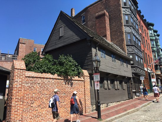 Right outside of the Paul Revere House.