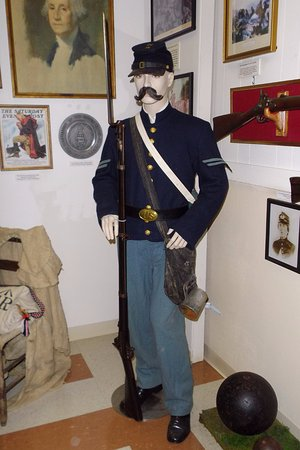 South Portland, ME: A replica of a civil war uniform