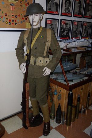 ‪‪South Portland‬, ‪Maine‬: One of the many donated military uniforms.‬
