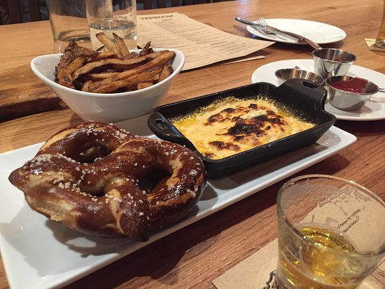 Mills River, NC: Duck Fat Fries and Beer Cheese Pretzels