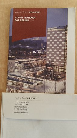 Hotel Pamphlet with address. - Picture of Austria Trend Hotel ...