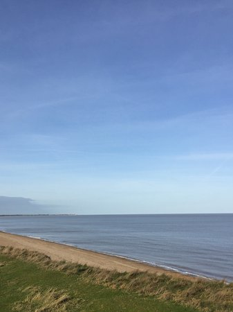 Saxmundham, UK: Spectacular views of the beach