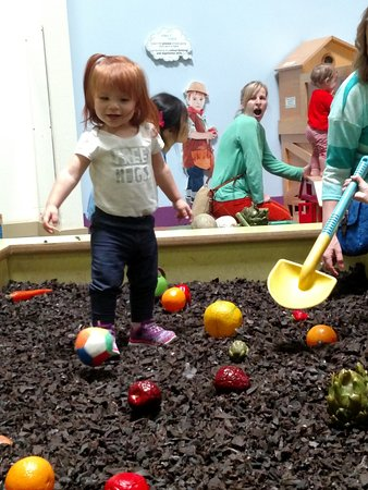 Pretend City Children's Museum: The Garden Area with our granddaughter