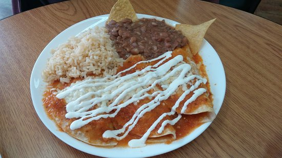 Port Coquitlam, Kanada: Red sauce enchilada, wasn't great just okay.