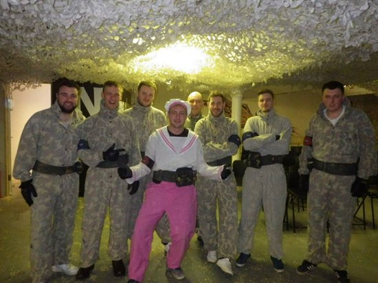 Manchester Paintball Arena: Dressing up the stag for easy ident