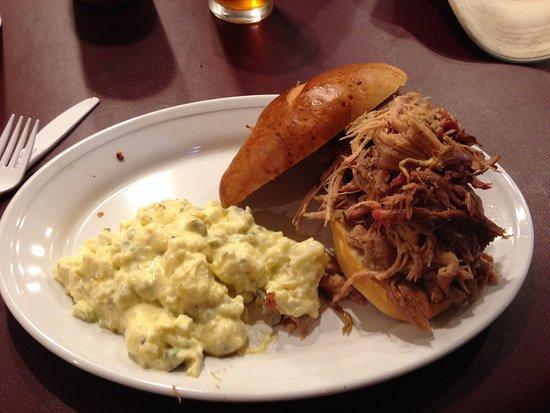 Bothell, WA: Pulled pork sandwich with potato salad