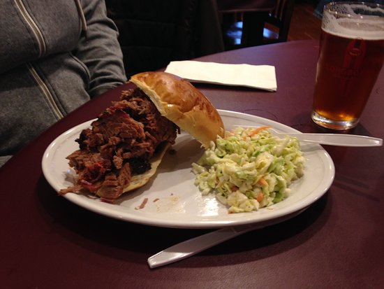 Bothell, WA: Brisket sandwich with cole slaw