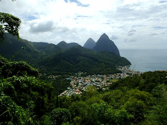 Vieux Fort, St. Lucia: The Pitons.
