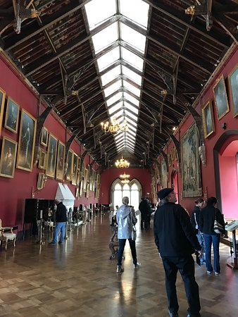 Kilkenny Castle: long room with art collection