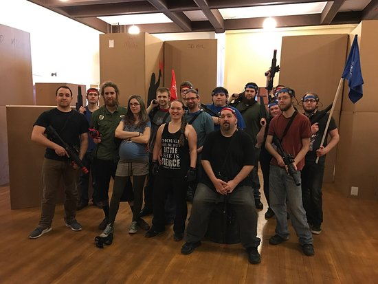 Houghton, MI: A group of Paragon Reality LARPers and our friends after a three hour session. So much fun!