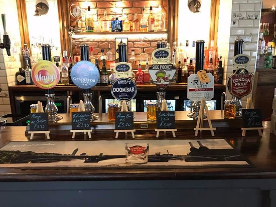Letchworth, UK: Our great Cask Ale and Cider offerings. These change daily, so be sure to pop in regularly!