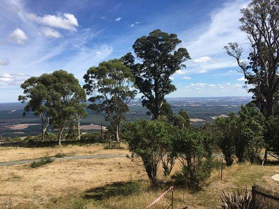 Macedon, Australia: View from cafe balcony