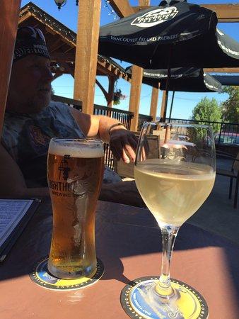 Drinks on the patio, Crofton Hotel,1534 Joan Avenue, Crofton, British Columbia