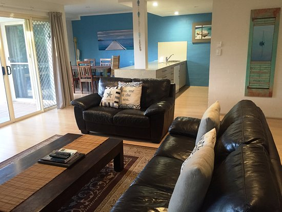 Mariner Bay Apartments: 2 Bedroom Apartment Open Plan Lounge, kitchen and dining.
