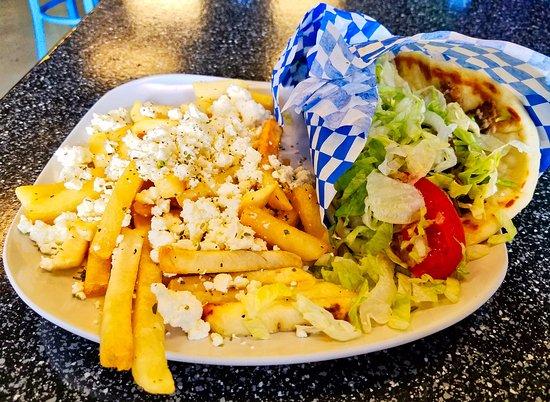 Garden City, ID: Gyro with Greek fries.