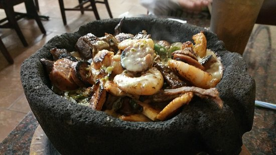 La Palma Mexican Restaurant : Awesome!  It's like all of the animals fell into the lava, still boiling 30 minutes later!