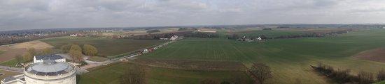 Waterloo Battlefield: Panorama ze wzgórza Lwa.