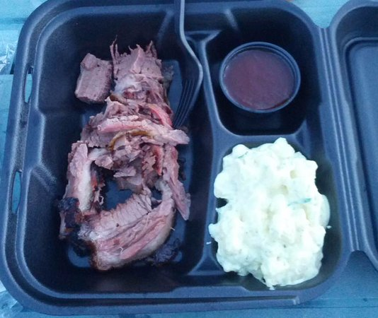 Cannonville, UT: Beef Brisket with potato salad