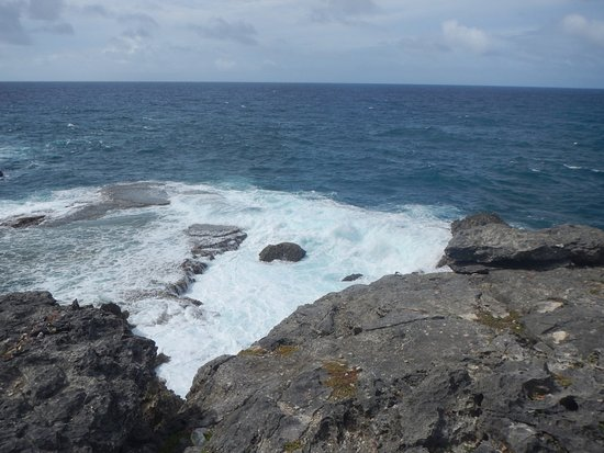 Saint Lucy Parish, Barbados: View of the ocean from the area around the cave