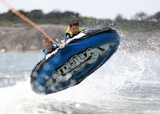 Lake LBJ Yacht Club and Marina: Catching a little air!