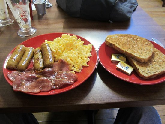 Birchington, UK: TWO SAUSAGES TWO BACON SRAMBLED EGG ONLY