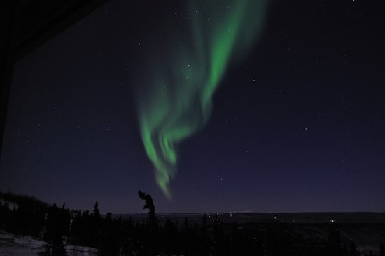 Aurora Borealis Lodge: View from Room 1: Aurora to the northwest