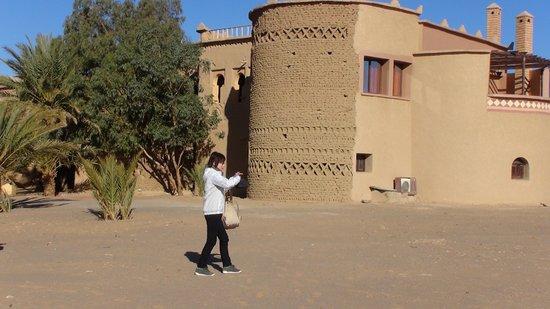 Moroccan Sahara : ホテルの庭先