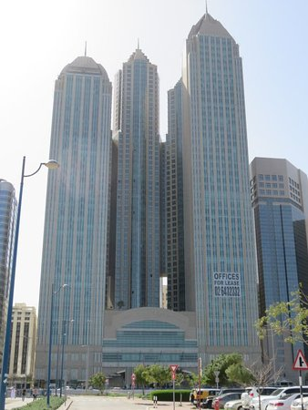 Sofitel Abu Dhabi Corniche: view of hotel from across the road